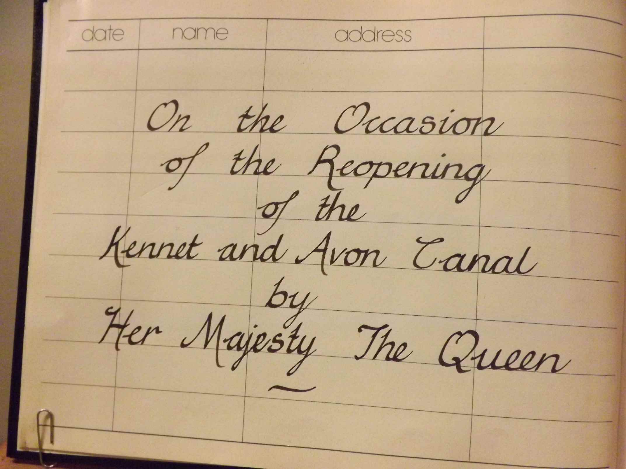 The Queen- Signed Book